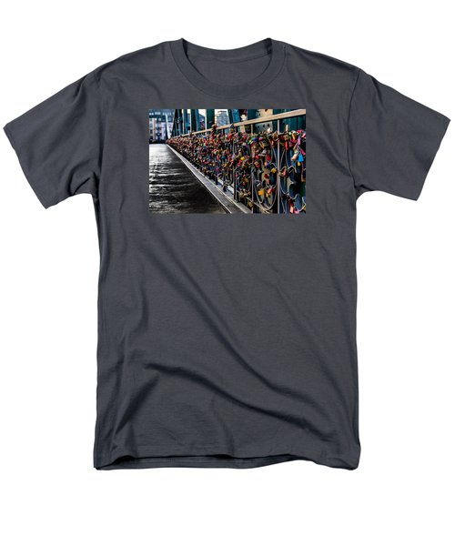 Locks Of Lock Bridge Men's T-Shirt  (Regular Fit) by Alpha Wanderlust