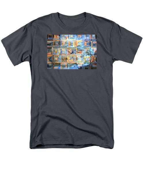 Men's T-Shirt  (Regular Fit) featuring the painting Log Cabin Quilt by Dawn Senior-Trask