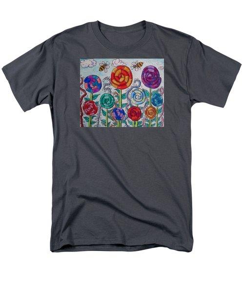 Lollipop Garden Men's T-Shirt  (Regular Fit) by Megan Walsh