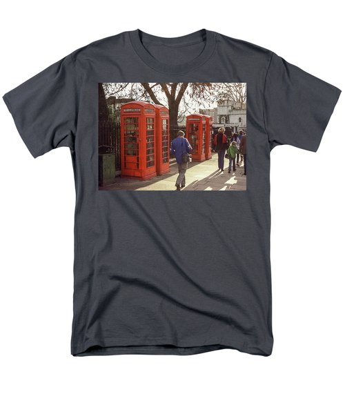 London Call Boxes Men's T-Shirt  (Regular Fit) by Jim Mathis