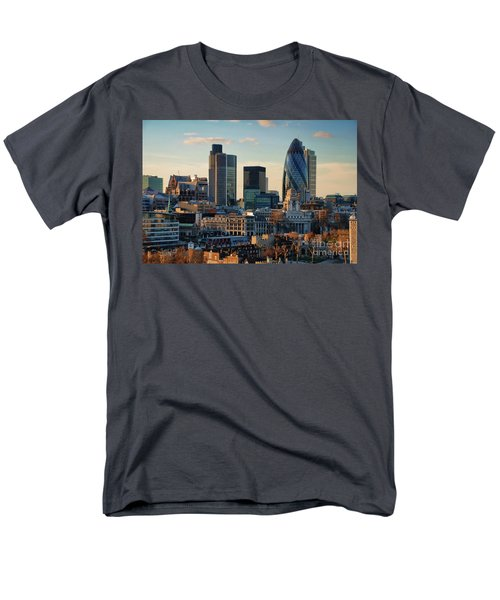 Men's T-Shirt  (Regular Fit) featuring the photograph London City Of Contrasts by Lois Bryan