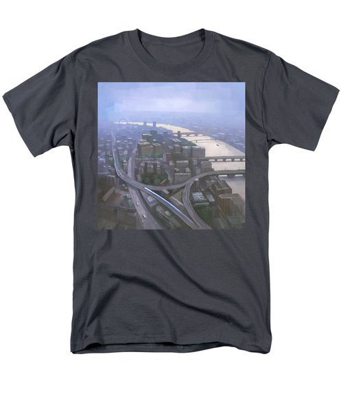 London, Looking West From The Shard Men's T-Shirt  (Regular Fit) by Steve Mitchell