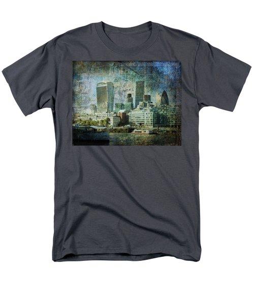 London Skyline Key Of Blue Men's T-Shirt  (Regular Fit) by Nicky Jameson