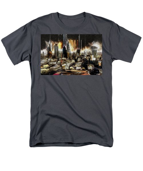 Men's T-Shirt  (Regular Fit) featuring the painting London Skyline by Kai Saarto