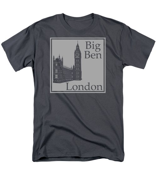 London's Big Ben In Gray Men's T-Shirt  (Regular Fit) by Custom Home Fashions