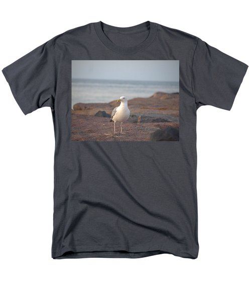 Men's T-Shirt  (Regular Fit) featuring the photograph Lone Gull by  Newwwman