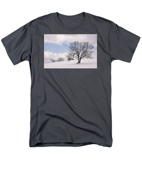 Lone Tree In Snow Men's T-Shirt  (Regular Fit) by Betty Denise