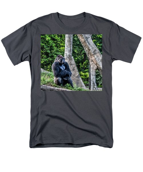 Men's T-Shirt  (Regular Fit) featuring the photograph Lonely Gorilla by Joann Copeland-Paul