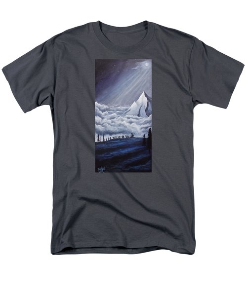Men's T-Shirt  (Regular Fit) featuring the painting Lonely Mountain by Dan Wagner