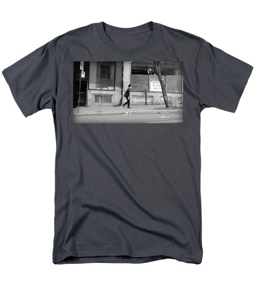 Men's T-Shirt  (Regular Fit) featuring the photograph Lonely Urban Walk by Valentino Visentini