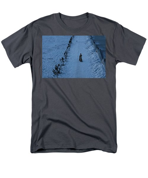 Lonely Walk/tsagaan Sar Men's T-Shirt  (Regular Fit) by Diane Height
