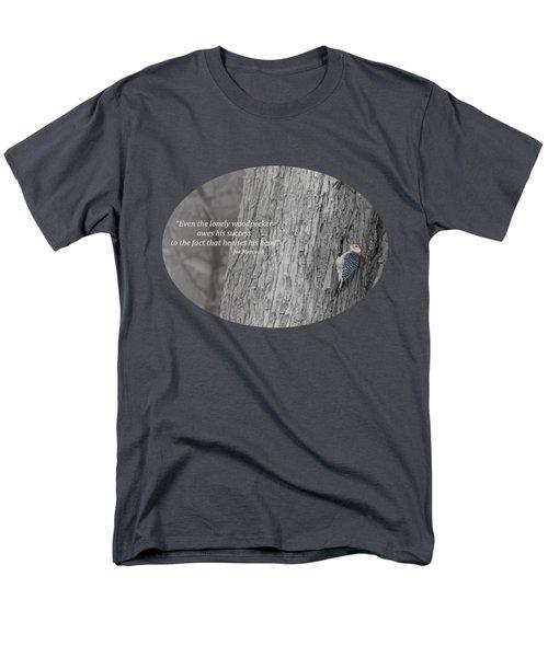Lonely Woodpecker Men's T-Shirt  (Regular Fit)