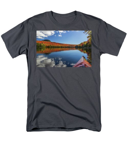Long Pond From A Kayak Men's T-Shirt  (Regular Fit) by Tim Kirchoff