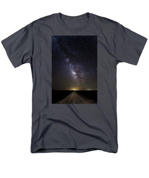 Men's T-Shirt  (Regular Fit) featuring the photograph Long Road To Eden by Karen Slagle