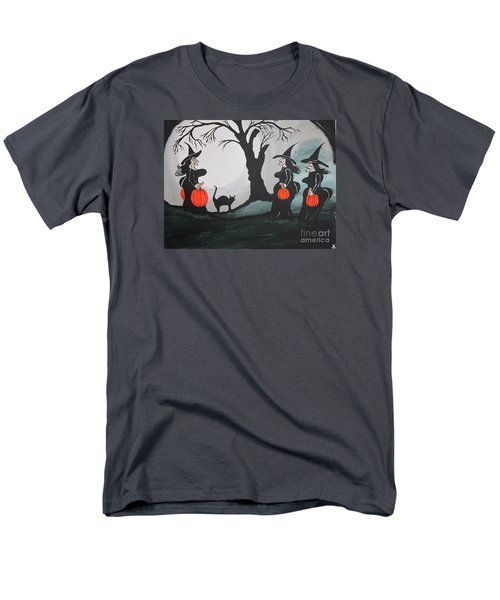 Men's T-Shirt  (Regular Fit) featuring the painting Look At The Size Of Her Pumpkins by Jeffrey Koss