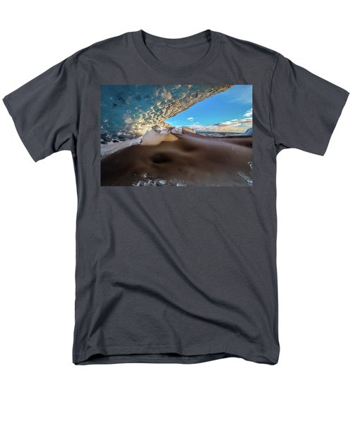 Men's T-Shirt  (Regular Fit) featuring the photograph Look Out From Glacier Cave by Allen Biedrzycki