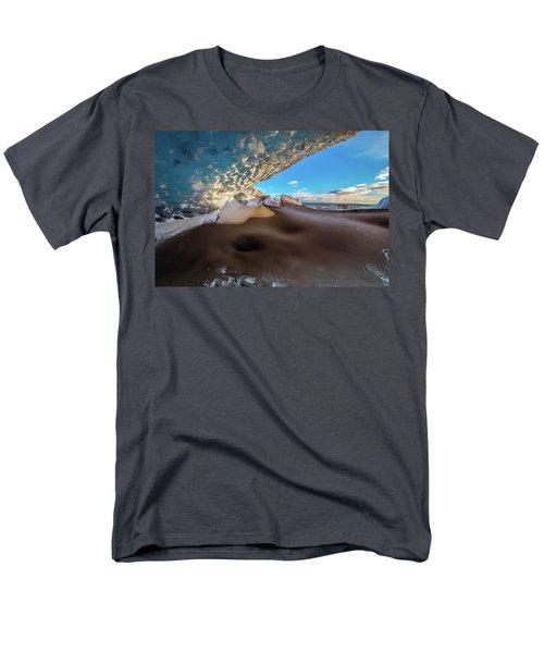 Look Out From Glacier Cave Men's T-Shirt  (Regular Fit) by Allen Biedrzycki