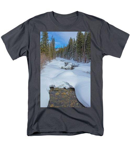 Looking Down The Elk Men's T-Shirt  (Regular Fit) by Sean Allen