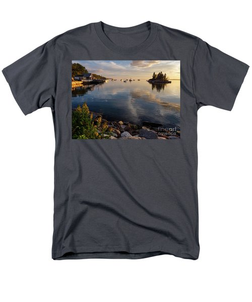Men's T-Shirt  (Regular Fit) featuring the photograph Lookout Point, Harpswell, Maine  -99044-990477 by John Bald