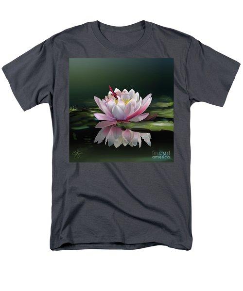 Lotus Meditation Men's T-Shirt  (Regular Fit) by Rosa Cobos