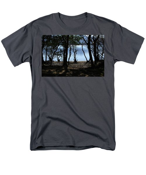 Men's T-Shirt  (Regular Fit) featuring the photograph Lough Leane Through The Woods by Aidan Moran