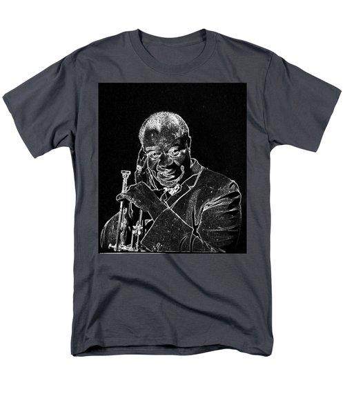 Men's T-Shirt  (Regular Fit) featuring the mixed media Louis Armstrong by Charles Shoup