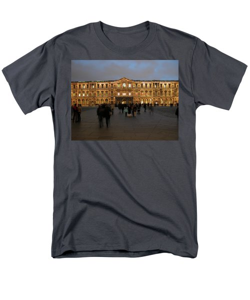 Men's T-Shirt  (Regular Fit) featuring the photograph Louvre Palace, Cour Carree by Mark Czerniec
