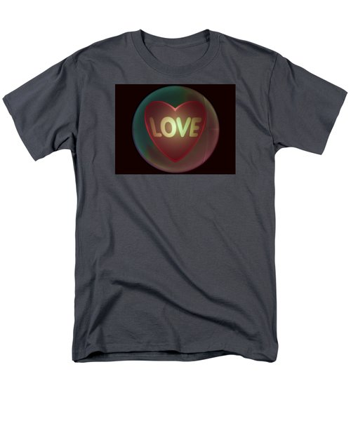 Love Heart Inside A Bakelite Round Package Men's T-Shirt  (Regular Fit) by Ernst Dittmar
