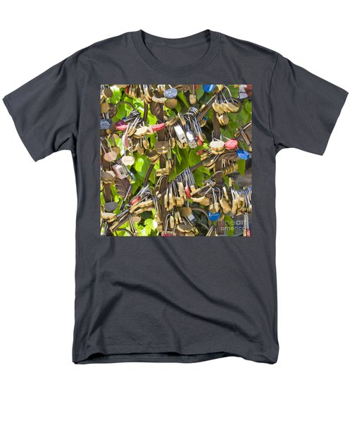 Men's T-Shirt  (Regular Fit) featuring the photograph Love Locks Square by Chris Dutton