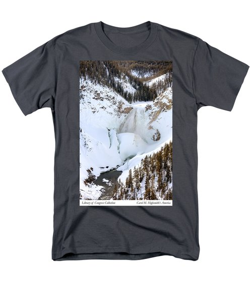 Lower Falls In The Grand Canyon Of The Yellowstone River Men's T-Shirt  (Regular Fit) by Carol M Highsmith