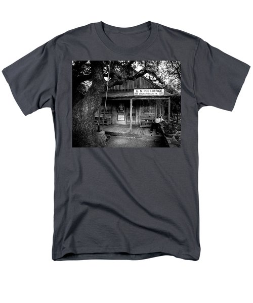 Men's T-Shirt  (Regular Fit) featuring the photograph Luckenbach Texas by David Morefield