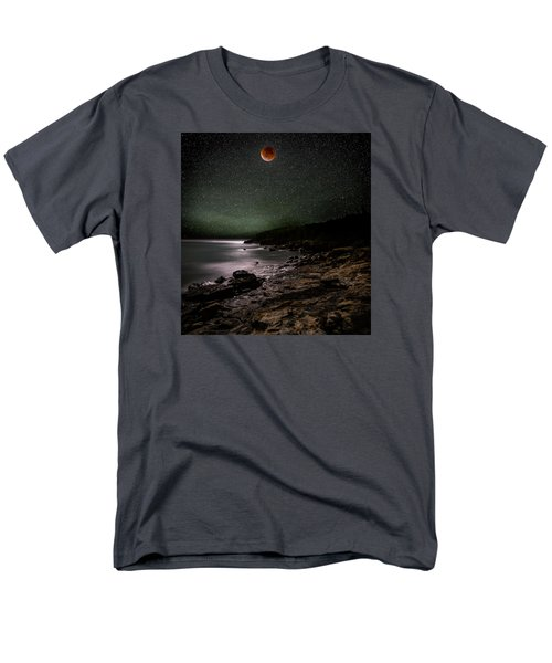 Lunar Eclipse Over Great Head Men's T-Shirt  (Regular Fit) by Brent L Ander