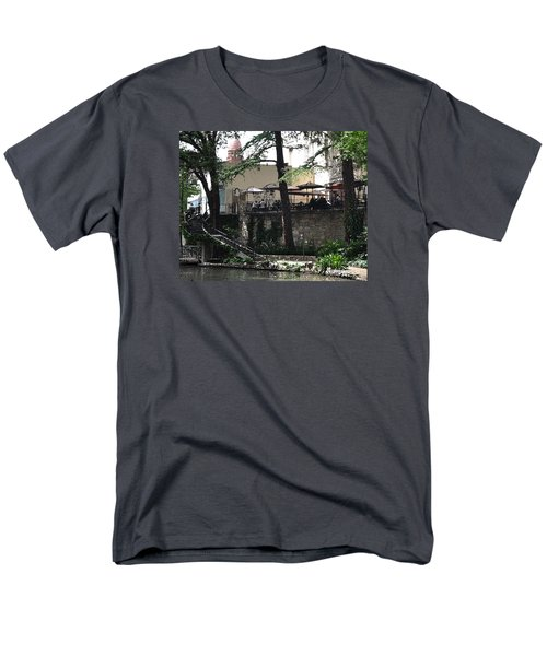 Men's T-Shirt  (Regular Fit) featuring the digital art Lunch Above The River Walk by Kirt Tisdale