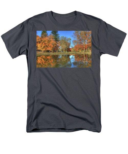 Men's T-Shirt  (Regular Fit) featuring the photograph Lykens Glen Reflections by Lori Deiter