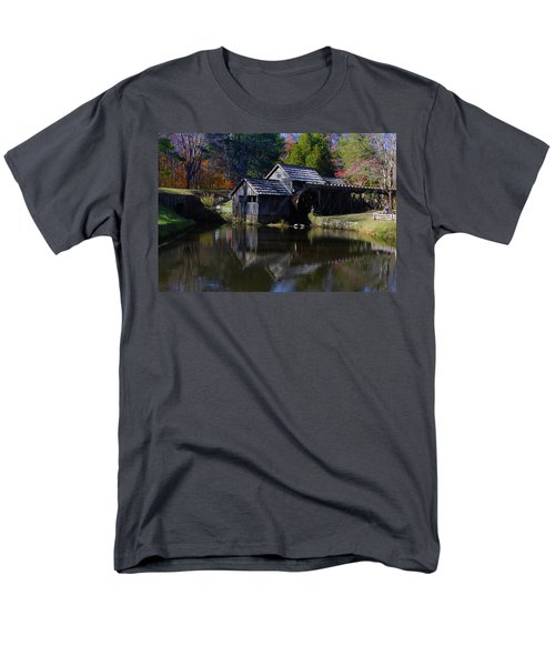 Men's T-Shirt  (Regular Fit) featuring the photograph Mabrys Mill On The Blue Ridge by B Wayne Mullins
