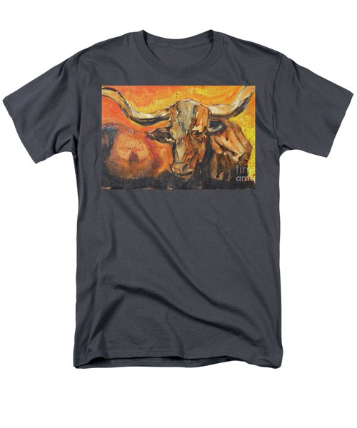 Men's T-Shirt  (Regular Fit) featuring the painting Macho Longhorn by Ron Stephens