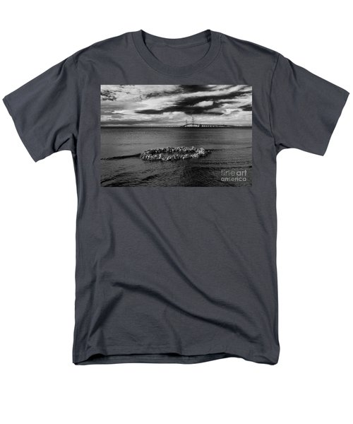 Mackinac Bridge - Infrared 03 Men's T-Shirt  (Regular Fit) by Larry Carr