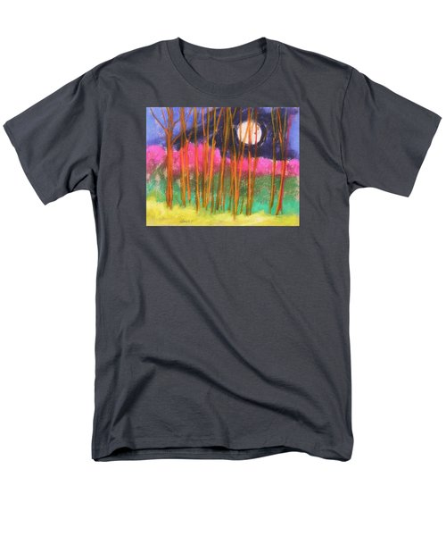 Men's T-Shirt  (Regular Fit) featuring the painting Magenta Treeline by John Williams