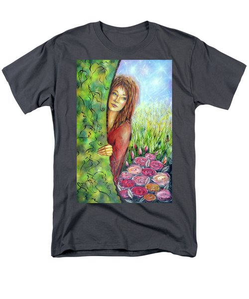 Magic Garden 021108 Men's T-Shirt  (Regular Fit) by Selena Boron