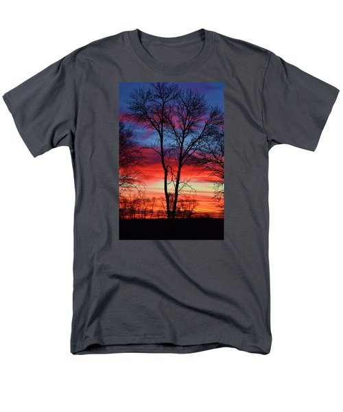 Men's T-Shirt  (Regular Fit) featuring the photograph Magical Colors In The Sky by Dacia Doroff
