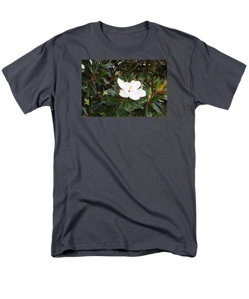 Magnolia Blossom Men's T-Shirt  (Regular Fit) by Linda Geiger