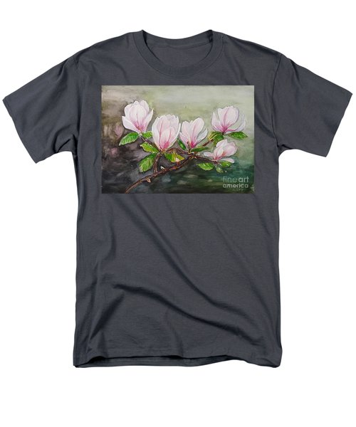 Magnolia Blossom - Painting Men's T-Shirt  (Regular Fit) by Veronica Rickard