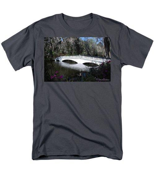 Magnolia Plantation Bridge Men's T-Shirt  (Regular Fit) by Gordon Mooneyhan
