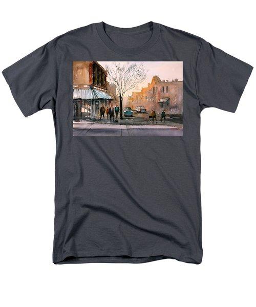 Main Street - Steven's Point Men's T-Shirt  (Regular Fit) by Ryan Radke