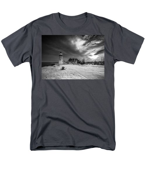 Maine Coastal Storm Over Pemaquid Lighthouse Men's T-Shirt  (Regular Fit) by Ranjay Mitra