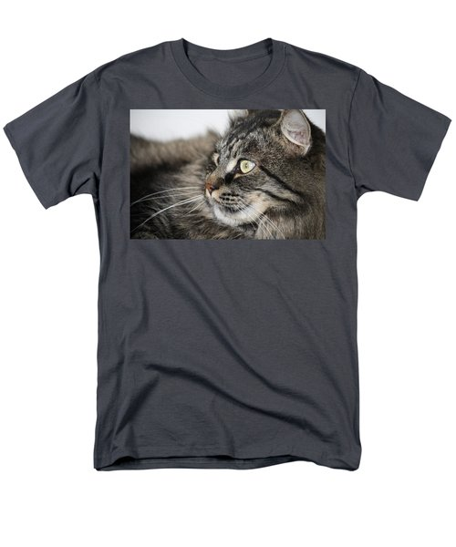 Maine Coon Cat Men's T-Shirt  (Regular Fit) by Mary-Lee Sanders