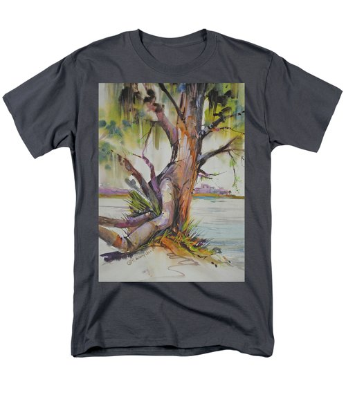 Majestic Live Oak  Men's T-Shirt  (Regular Fit) by P Anthony Visco