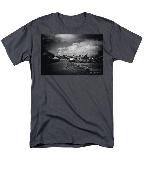Men's T-Shirt  (Regular Fit) featuring the photograph Mala Wharf Ala Moana Street Lahaina Maui Hawaii by Sharon Mau