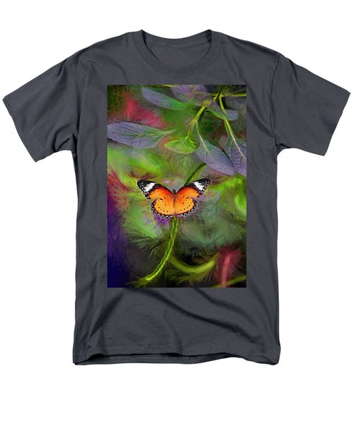 Malay Lacewing  What A Great Place Men's T-Shirt  (Regular Fit) by James Steele