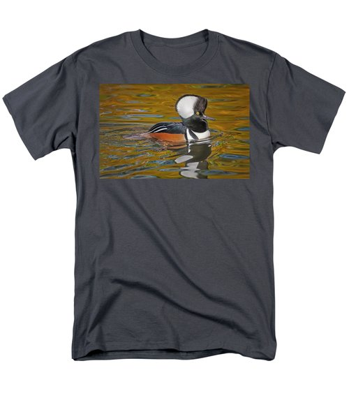 Men's T-Shirt  (Regular Fit) featuring the photograph Male Hooded Merganser Duck by Susan Candelario